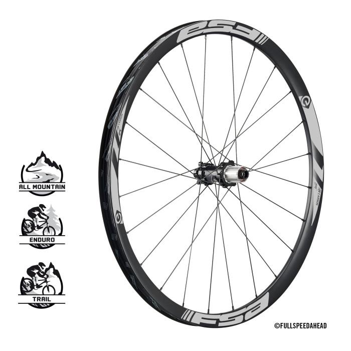 E-MTB wheels carbon rear