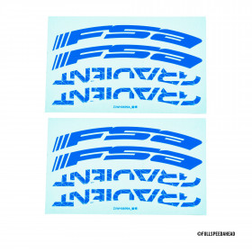 FSA GRADIENT WH STICKER Blue
