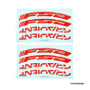 FSA GRADIENT WH STICKER red