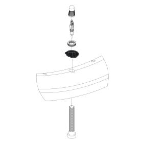 Adaptador de válvula de borde asimétrico