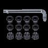 Kit de tornillos + llave negros 12 piezas (triple) MTB