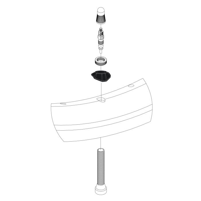 Asymmetrischer Felgenventiladapter